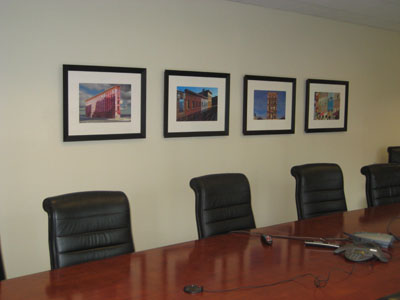 Corporate picture installation conference room prints