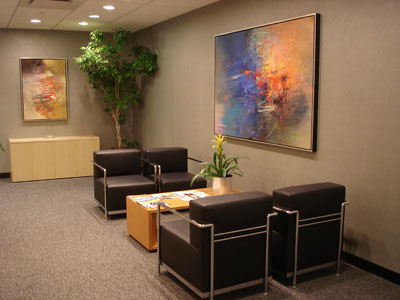 Corporate picture installation waiting area paintings
