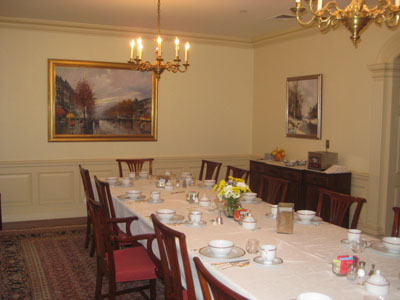 Residential picture installation dining room paintings