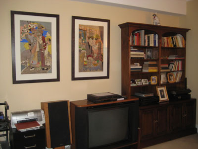 Residential picture installation living room prints